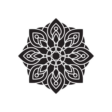 Mandala silhouette vector design template illustration