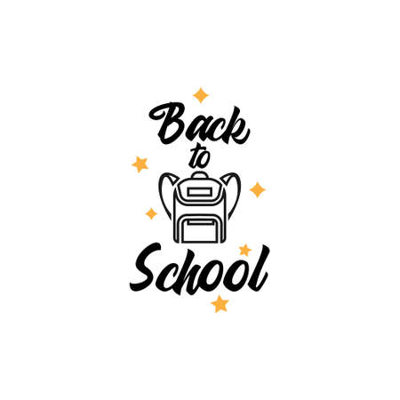 Back to school. quote lettering typography