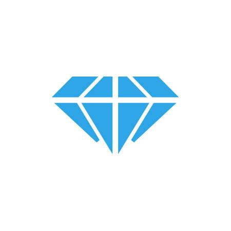 Diamond icon design template vector isolated illustration