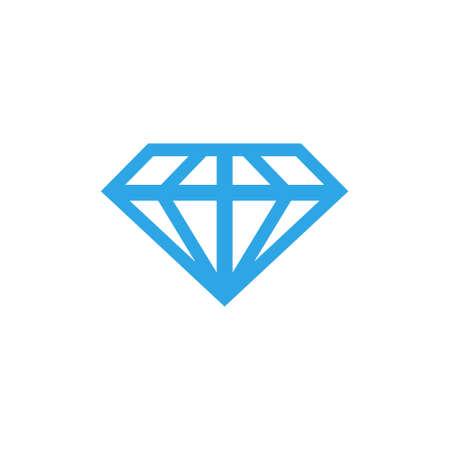 blue Diamond icon line design