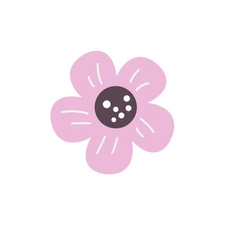 Floral nature icon decorative element vector design