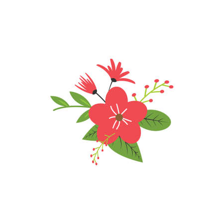 Floral nature icon decorative element vector design