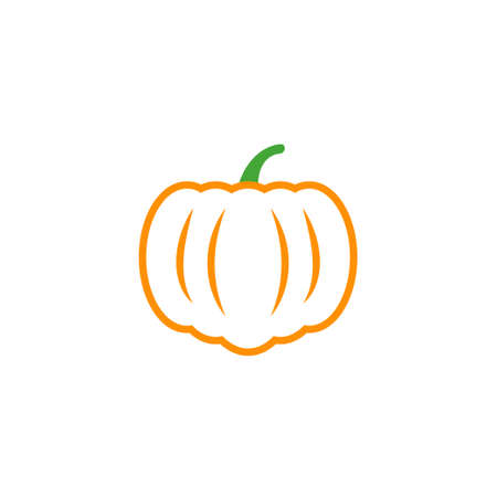 Pumpkin icon design template vector isolated illustration