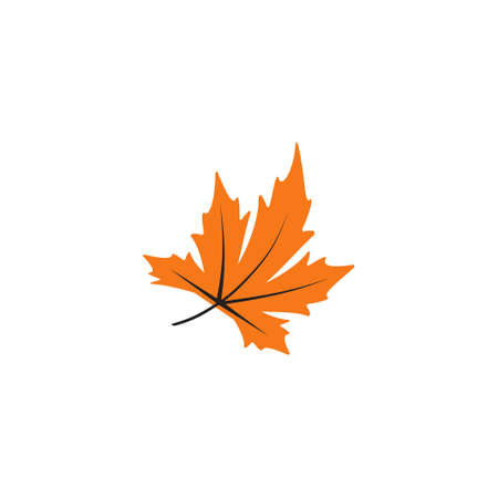 Leaf fall icon design template vector isolated illustration