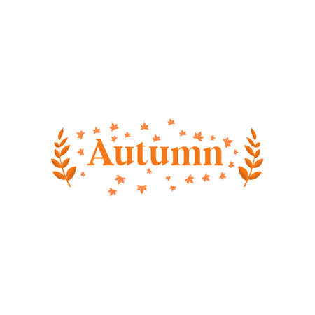 Autumn text design template vector isolated illustration Illusztráció