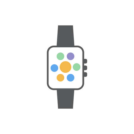 Smartwatch icon design template vector isolated illustration Illustration