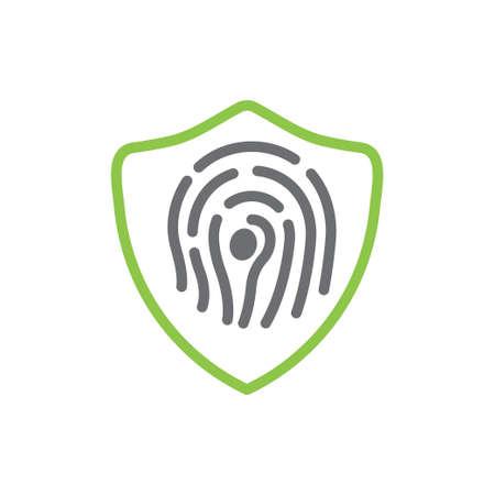 Fingerprint icon design template vector isolated Illustration