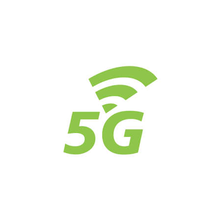 5g network icon design template vector isolated