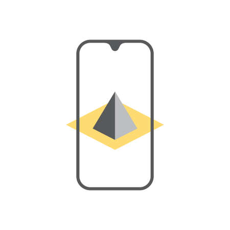 Augmented reality icon design template vector isolated