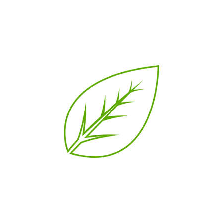 Leaf icon logo design template vector isolated