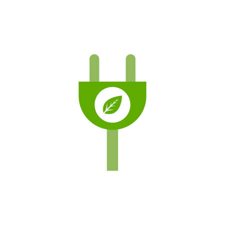 Electricity plug icon logo design template vector isolated