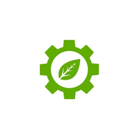 Gear icon logo design template vector isolated