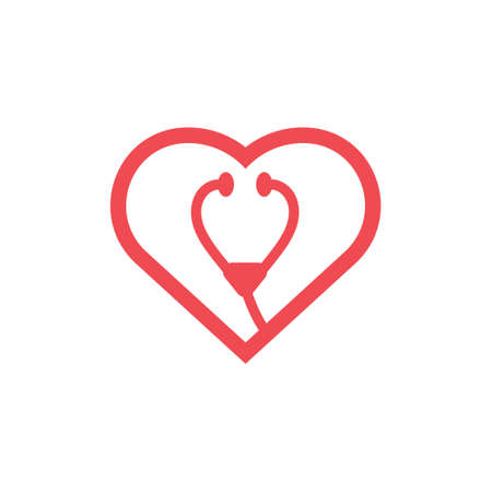 Heart icon design template vector isolated illustration Illustration