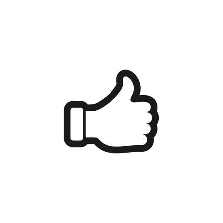 Thumb up icon design template vector isolated Illustration