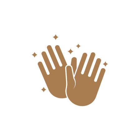 Clean hands icon design template vector isolated Illustration