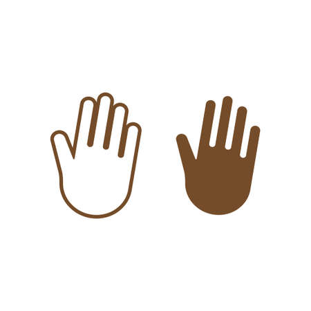 Palm hand icon design template vector isolated