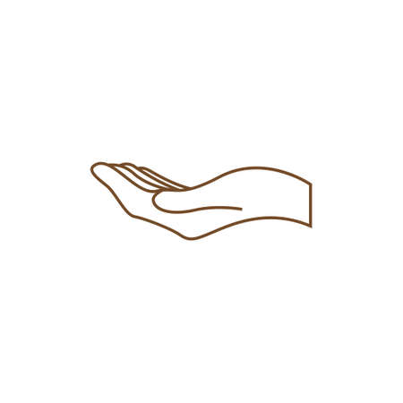 Hand icon design template vector isolated