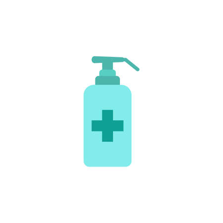 Hand sanitizer icon design template vector isolated Illustration