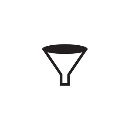 Funnel icon design template vector isolated