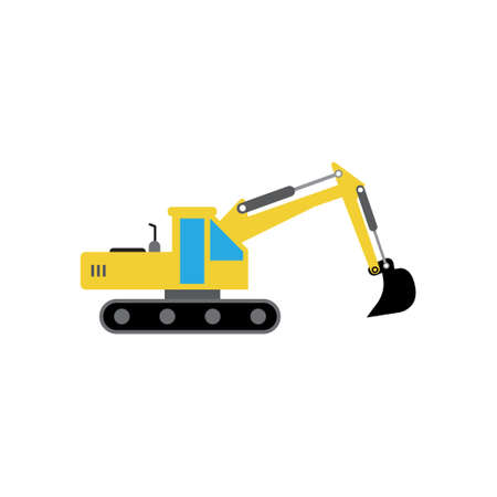 Excavator icon design template vector isolated Illustration