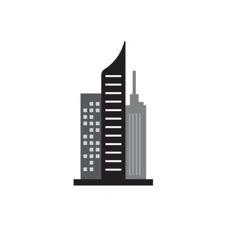 Skyscraper building icon design template vector isolated