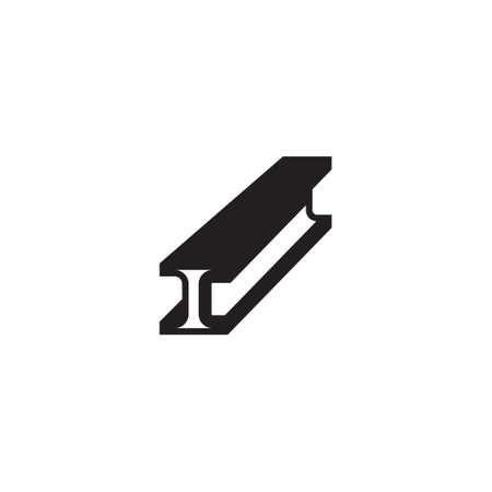 Steel bar icon design template vector isolated illustration Illustration