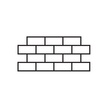 Brick wall icon design template vector isolated Illustration
