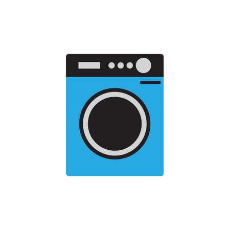 Washing machine laundry icon design template vector