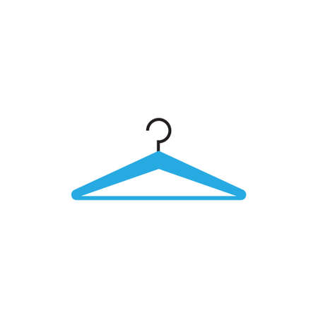 Hanger laundry icon design template vector isolated illustration