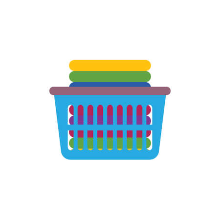 Laundry pile icon design template vector isolated illustration