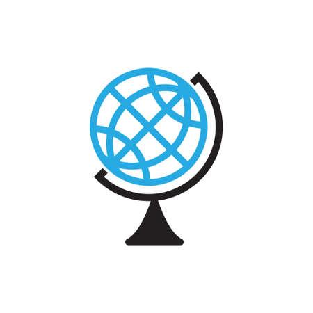 Globe school icon design template vector isolated Illustration