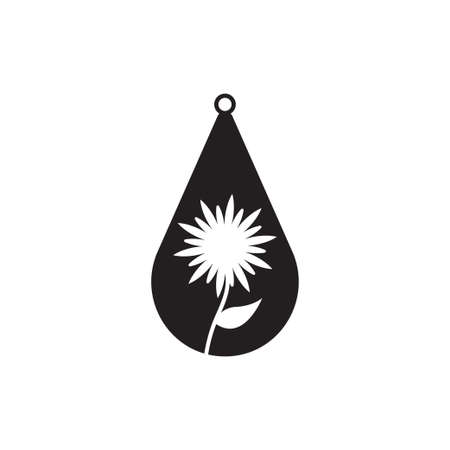Teardrop earring icon design template vector isolated 矢量图像