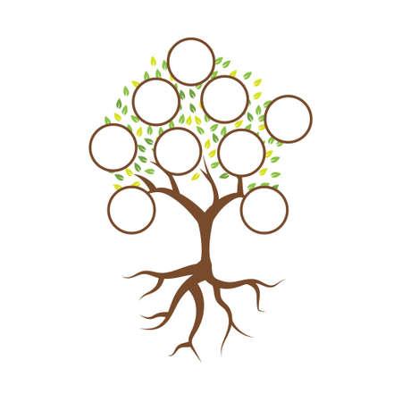 Family tree illustration template design vector