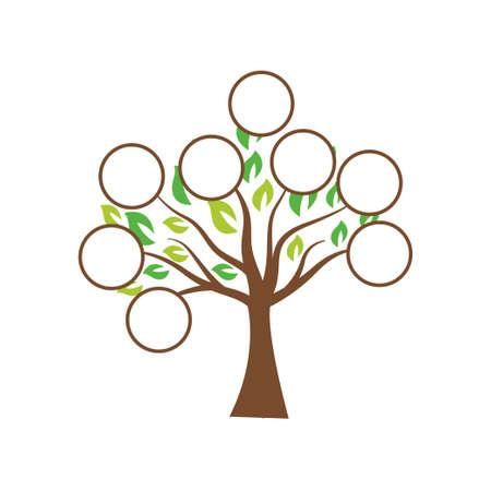 Family tree illustration template design vector Ilustración de vector