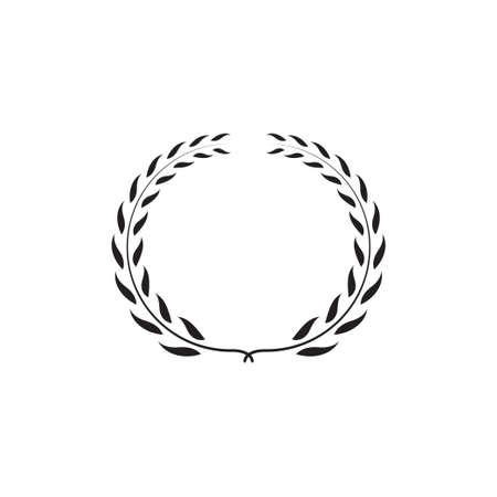 Laurel wreath graphic design template vector illustration