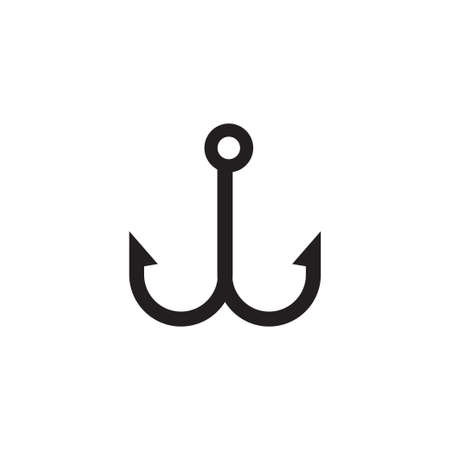 Fishing hook icon design template vector isolated