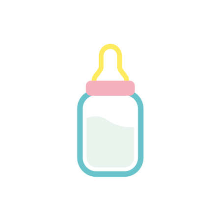 Baby bottle icon design template vector isolated illustration