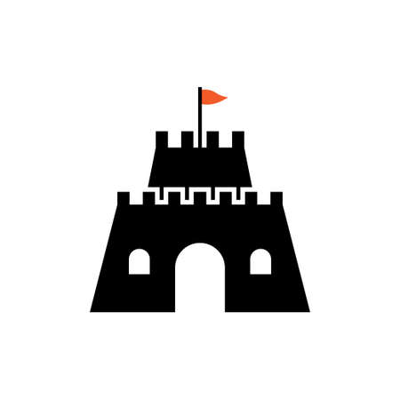 Castle icon design template vector isolated illustration