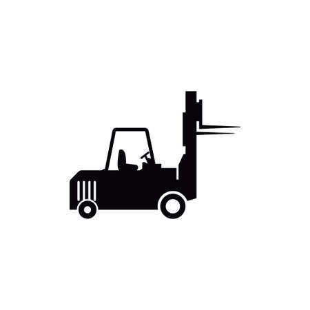 Forklift icon design template vector isolated illustration