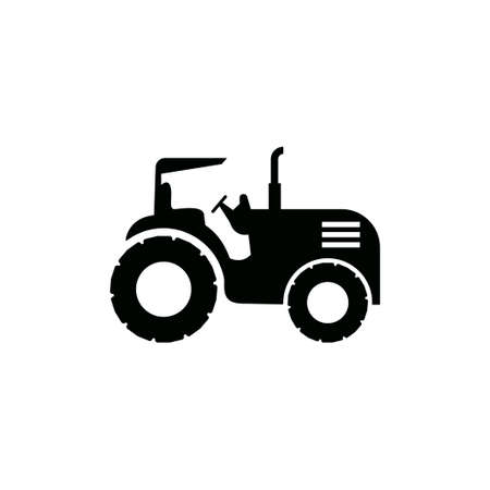 Tractor icon design template vector isolated illustration