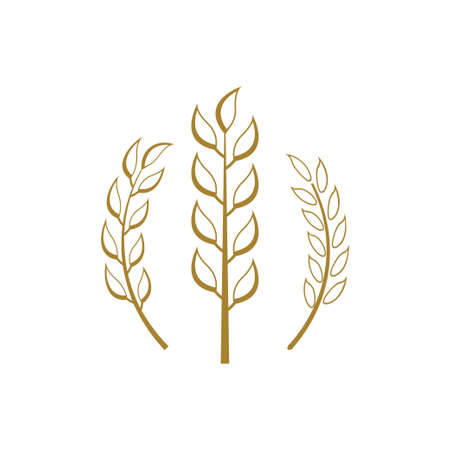 Wheat icon design template vector isolated illustration