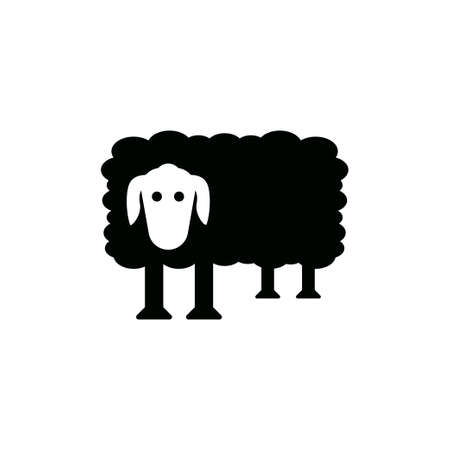 Sheep icon design template vector isolated illustration Ilustracja