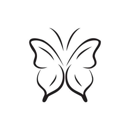 Butterfly icon design template vector isolated illustration