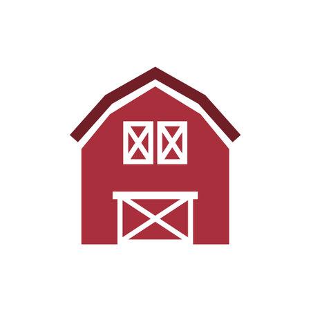 Barn icon design template vector isolated illustration