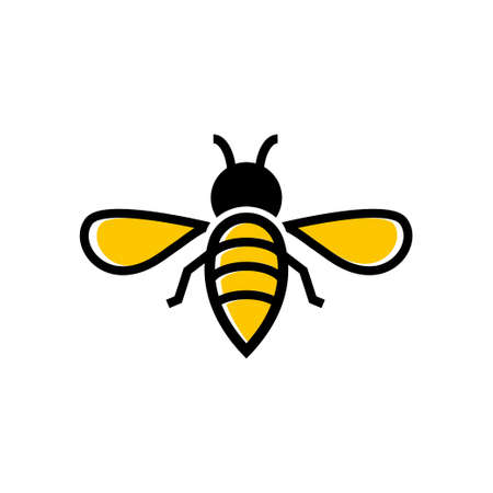 Bee icon design template vector isolated illustration Ilustracja