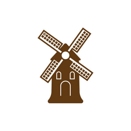 Windmill icon design template vector isolated illustration