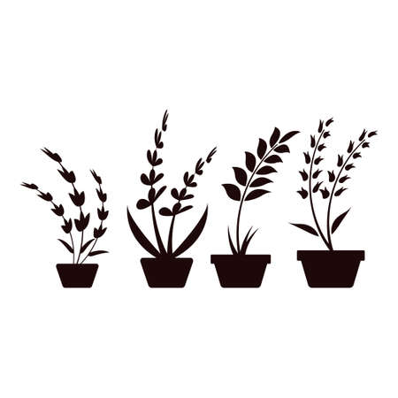 Plant pot icon design template vector isolated illustration