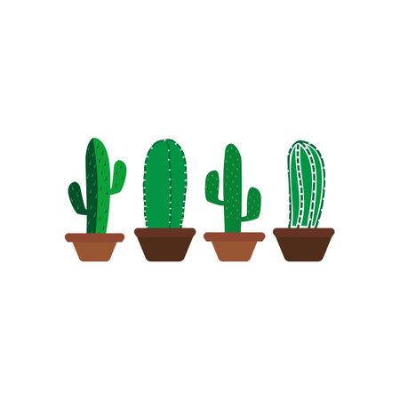 Cactus icon design template vector isolated illustration Ilustracja