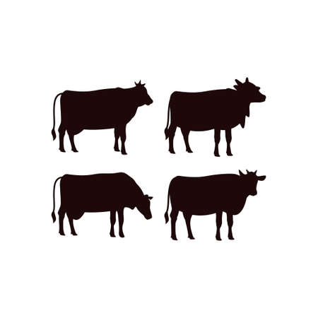 Cow icon design template vector isolated illustration