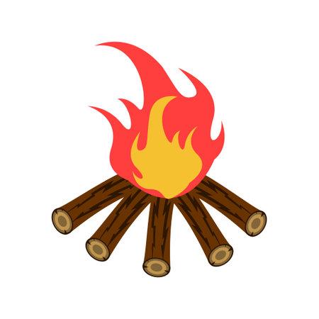 Bonfire icon design template vector isolated illustration Zdjęcie Seryjne - 161246333